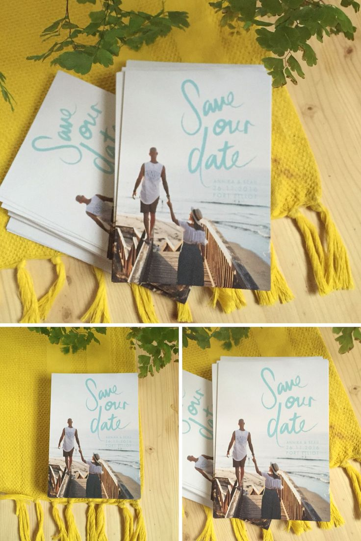 This save the date postcard is so simple yet amazing! LOVE IT!