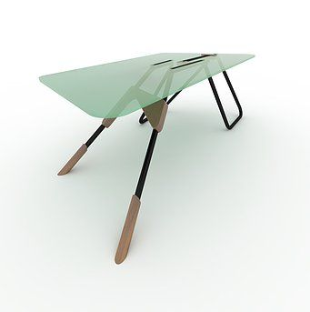 Competition entry. Parametric table. Customized options for every space.