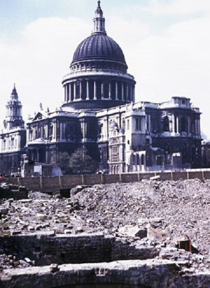 The Blitz. London. 30th December 1940. Can you imagine??