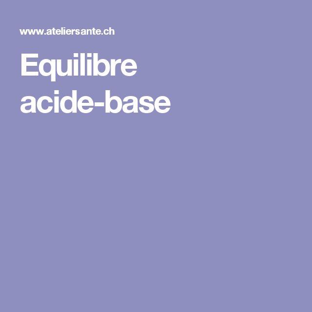 Equilibre acide-base