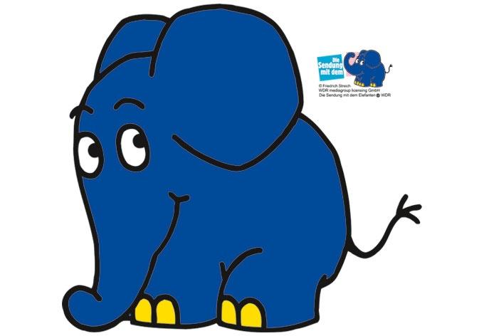 Wandtattoo Elefant 05 - der kleine niedliche Elefant als Wandaufkleber für das Kinderzimmer