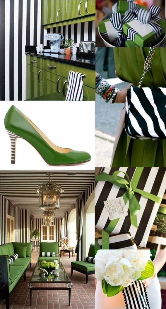 Green and black and white wedding inspiration emerald kelly