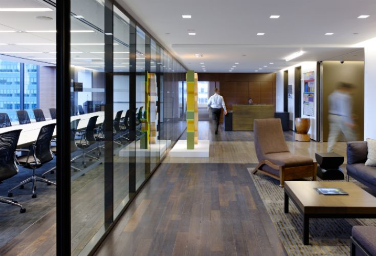 Torys nyc law firm interior design designed by benhar for Top commercial interior design firms chicago