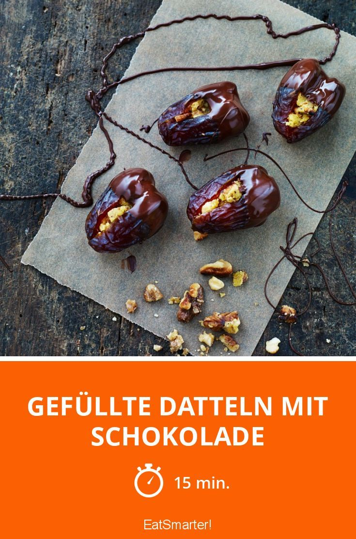 Gefüllte Datteln mit Schokolade - smarter - Zeit: 15 Min. | eatsmarter.de