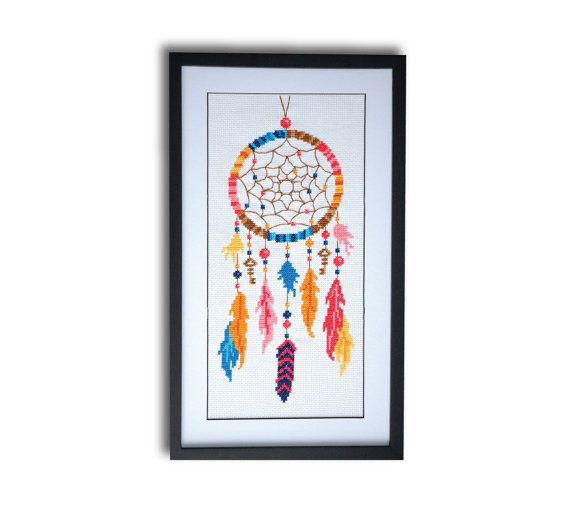 Hey, I found this really awesome Etsy listing at https://www.etsy.com/listing/201189467/dreamcatcher-cross-stitch-pattern