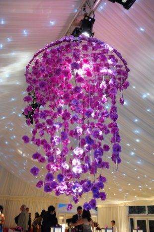 Gorgeous orchid chandelier ....EVENT FLOWERS - WildAbout Flowers