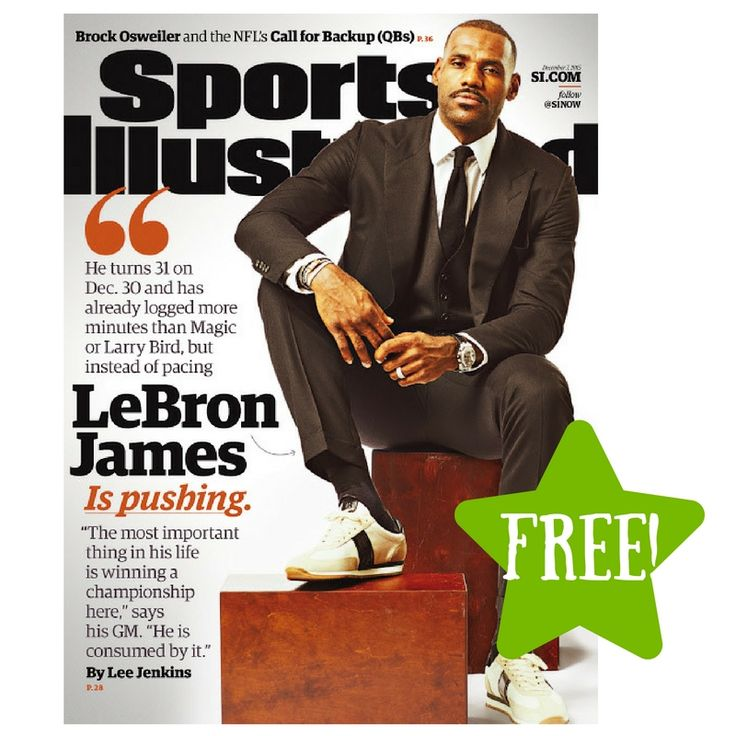 FREE Sports Illustrated Magazine Subscription - http://www.couponsforyourfamily.com/free-sports-illustrated-magazine-subscription-2/