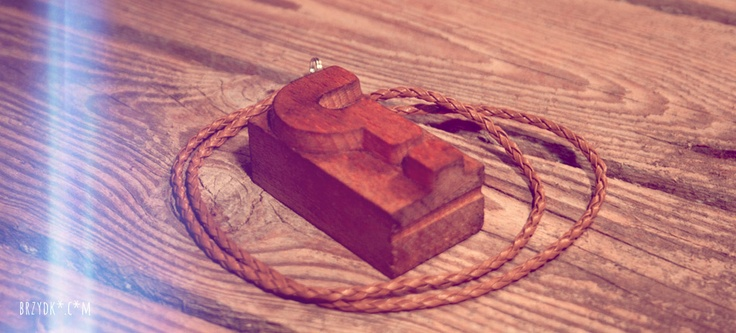 letterpress necklace
