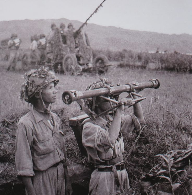 Men of the Viet Minh flak that managed to build a deadly iron curtain over Dien Bien Phu.