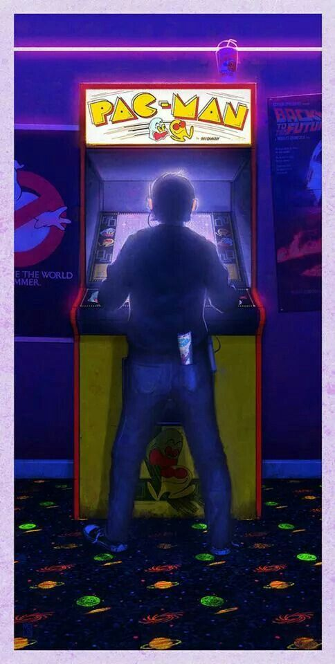 This kid never let's me close up the arcade at 9:00 p.m., he's always last one out at about midnight...grrrrr, Lady T.