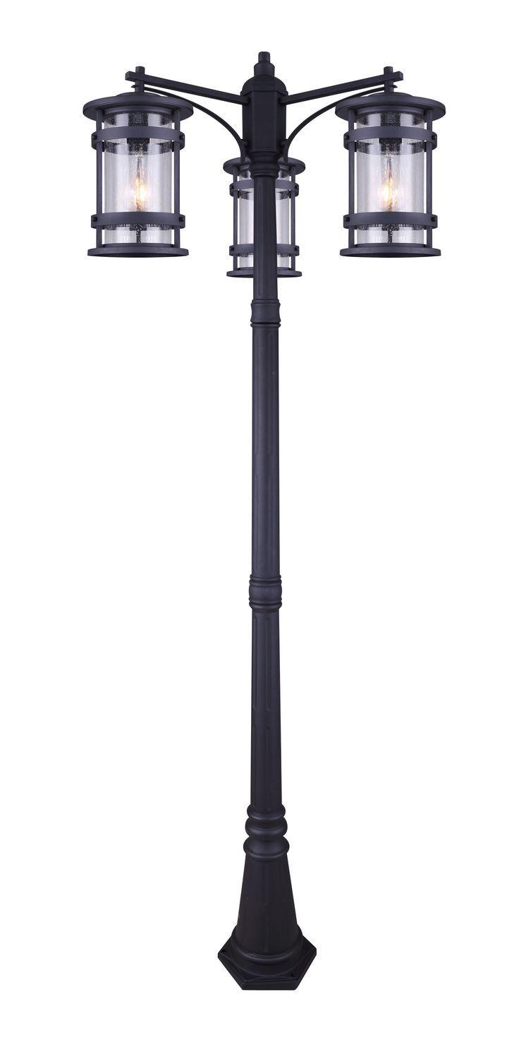 Canarm Iol344bk Duffy 3 Light Aussenstehleuchte Schwarz Outdoor Post Lights Post Lights Outdoor Lamp Post Lights