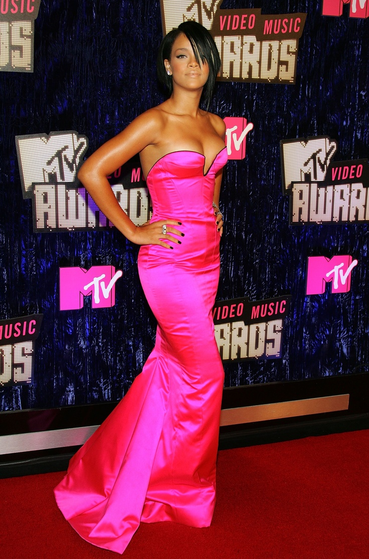 Evening Pink Dress Rihanna Looks Dresses Evening