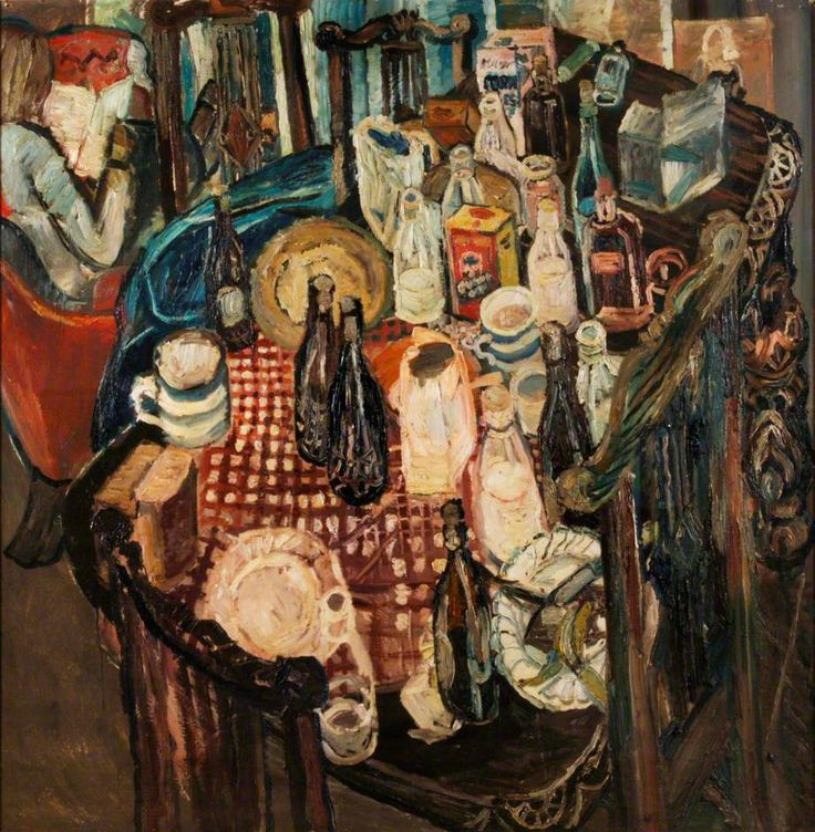 thorsteinulf:    John Bratby - Table Top (1955)