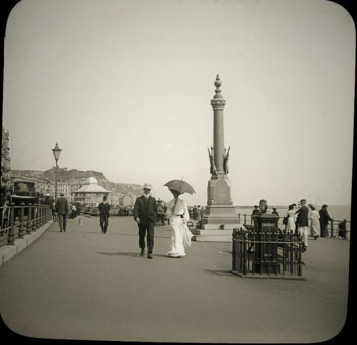 Hastings Seafront c1890 from a series of photographic slides of that era