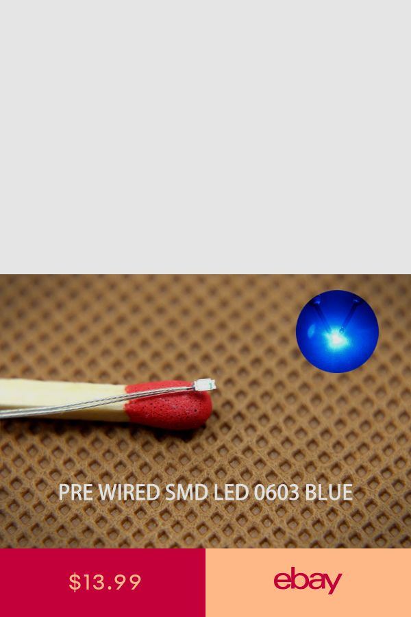 C0402B 20pcs Pre-soldered micro 0 1mm Copper Wired BLUE SMD
