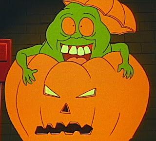 Slimer in a pumpkin