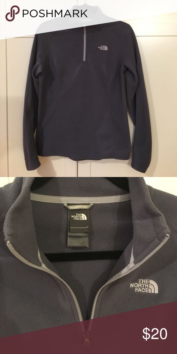 The North Face women's v-neck fleece The North Face Women's Glacier 1/4 Zip. The color's between grey and lilac The North Face Sweaters V-Necks
