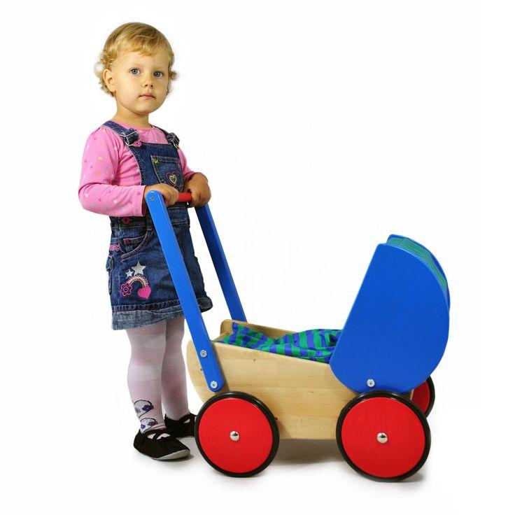 Bajo, Drewniany Wózek dla Lalek