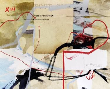 "Saatchi Art Artist Sander and Marijah; Collage, ""Correspondence in Lines -original print, limited to 1"" #art http://www.saatchiart.com/art/Collage-Correspondence-in-Lines-original-print-limited-to-1/845045/2882295/view"