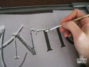 how to paint on a window screen, crafts, repurposing upcycling, wall decor, windows