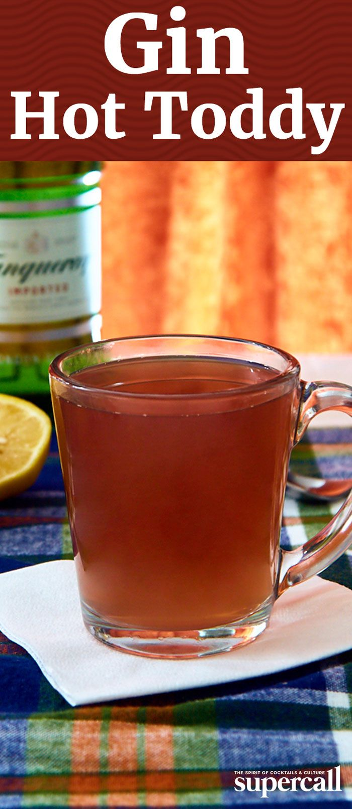 This Hot Toddy variation packs some serious flavor thanks to Old Tom gin, crème de cassis and Becherovka, an herbal liqueur from the Czech Republic.