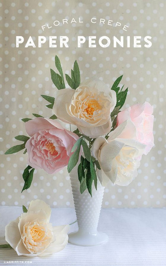 DIY Crepe Paper Peonies. For the wedding tables - in a small white vase. I will make a sample to see if I can show you.