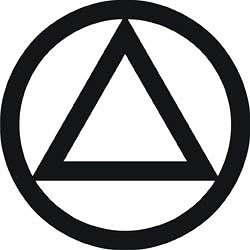 Alcoholics Anonymous Symbol  The Circle and Triangle symbol has long been connected to the A.A. Fellowship. It was adopted as an official A.A. symbol at the International Convention in St. Louis in 1955, and from that point on was widely used in the Fellowship