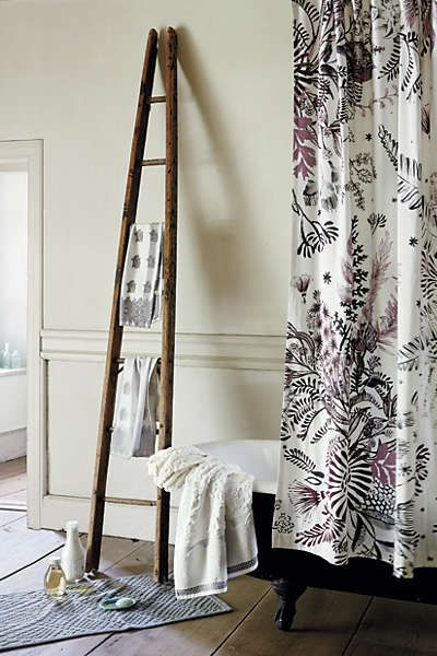 anthropologie cornelis shower curtain decor ladders. Black Bedroom Furniture Sets. Home Design Ideas