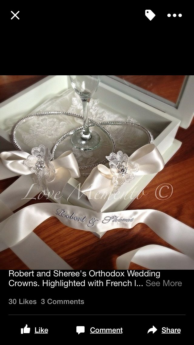 Wedding crowns with french lace