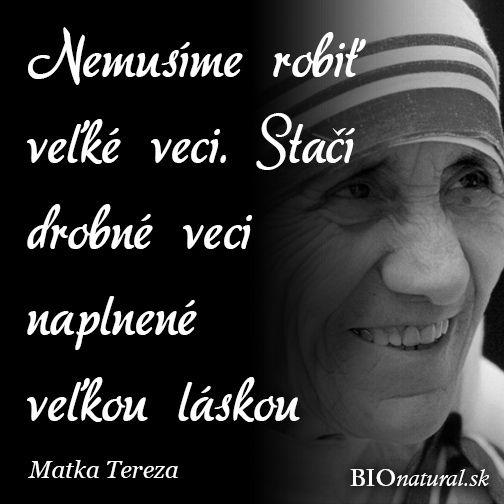 Citát od Matky Terezy