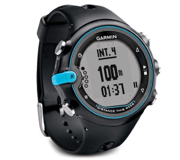 GARMIN Swim - Orologio GPS   L'orologio Swim di Garmin è dedicato agli sportivi che fanno nuoto. Questo orologio è impermeabile fino a 50 metri e riconosce i diversi stili di nuoto.Localizzando la posizione dell'utente, questo orologio determina l'andatura e il numero di vasche percorse. Mostra anche il numero di movimenti effettuati e di calorie bruciate.Compatibile con il sito Garmin Connect, questo orologio invia il riepilogo dei tuoi allenamenti su un social network.