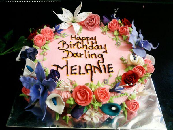 Happy Birthday Melanie Cake Let Them Eat Cake Cake