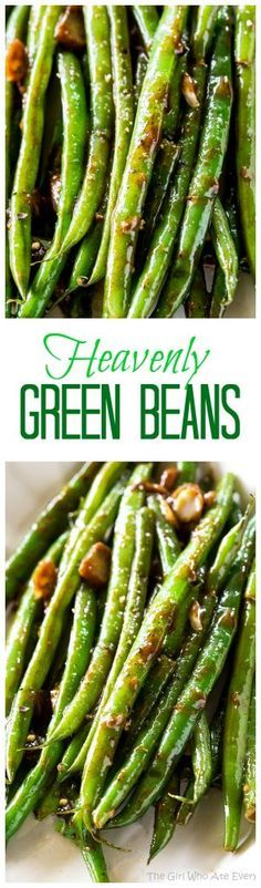 Heavenly Green Beans - this Asian inspired sauce will make you beg for more. A great side dish for any occasion. the-girl-who-ate-everything.com