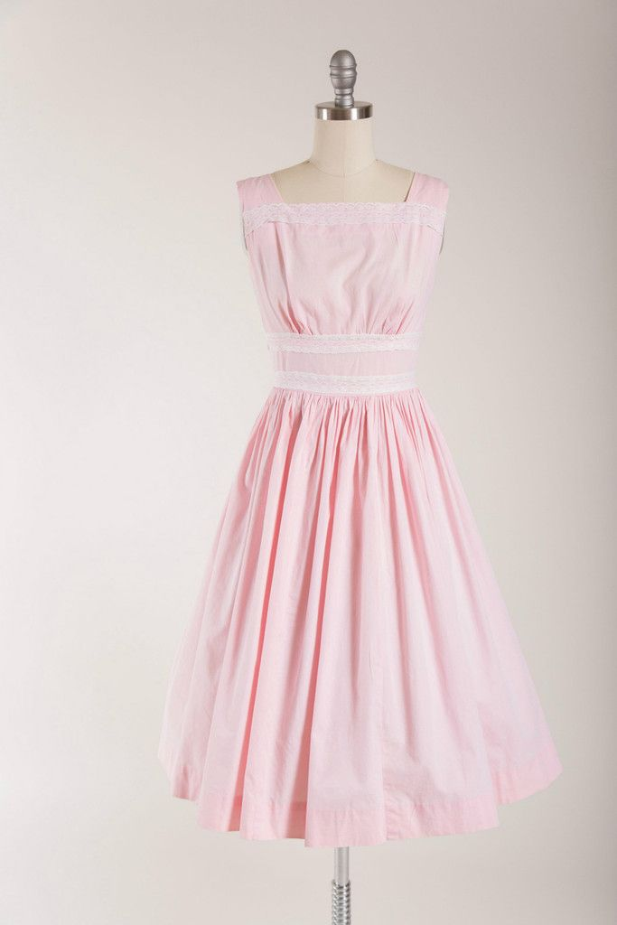 Rosy Verse Cotton Dress 1950s vintage
