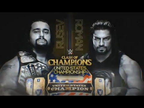 WWE CLASH OF CHAMPIONS 2016 Rusev vs. Roman Reigns - WWE United States Championship Match