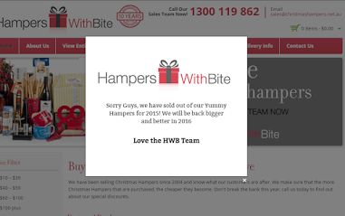 Christmas Hampers - Sorry Guys, we have sold out of our Yummy Hampers for 2015! We will be back bigger and better in 2016 Love the HWB Team christmashampers.net.au #christmas2015   #christmasgifts