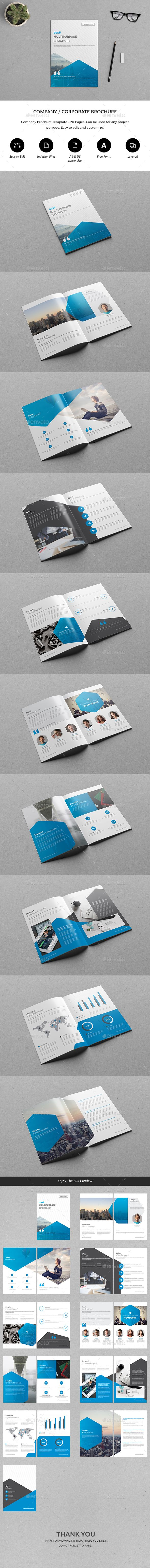 Company Brochure Template InDesign INDD. Download here: https://graphicriver.net/item/company-brochure/17475573?ref=ksioks