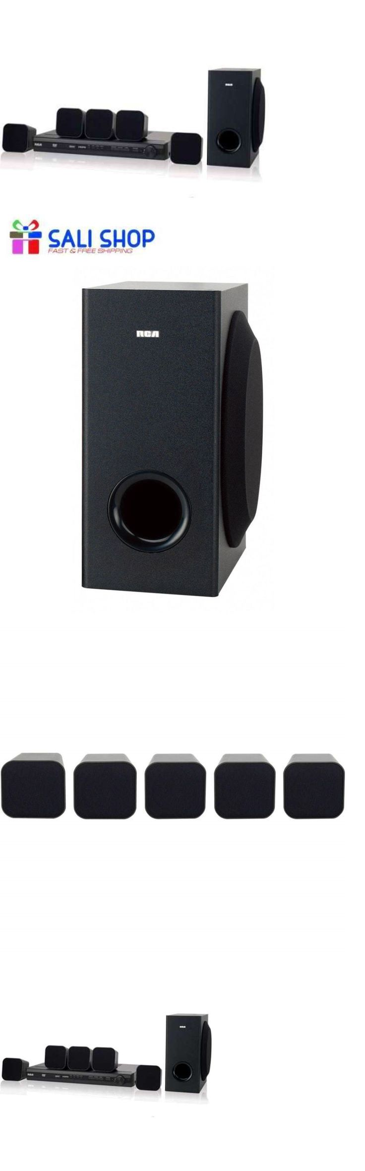 Home Theater Systems: 200W Surround Sound Home Theater System 5 Speakers + Subwoofer With Dvd Player -> BUY IT NOW ONLY: $104.95 on eBay!