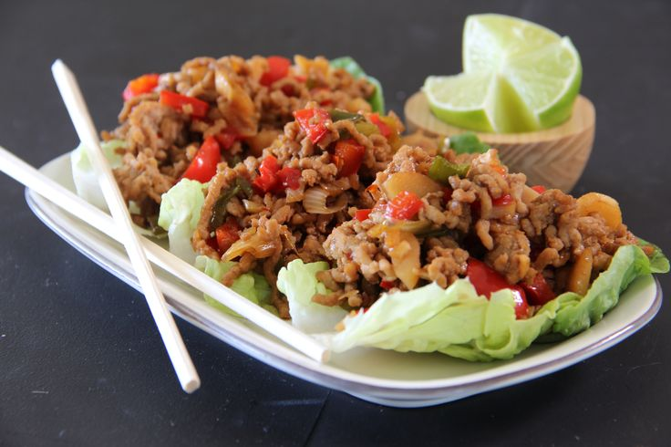 DIY Pork San Choi Bau served with Fresh Lime