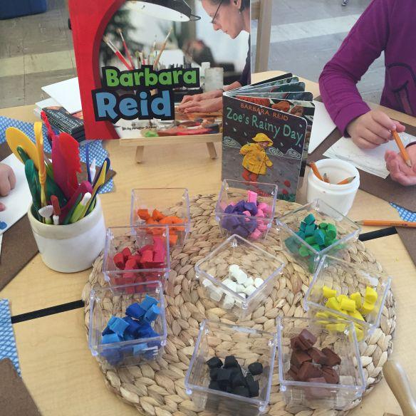 Plasticine art inspired by Barbara Reid. Art Studio Kindergarten.