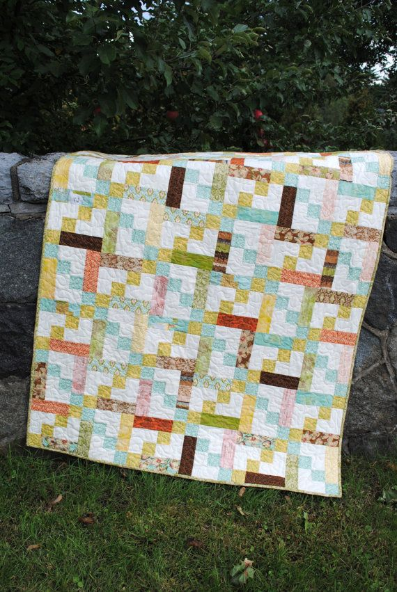Quilt Pattern.... Baby or Twin Quilt size, Quick and Easy, Layer Cake, Jelly Roll or Fat ...