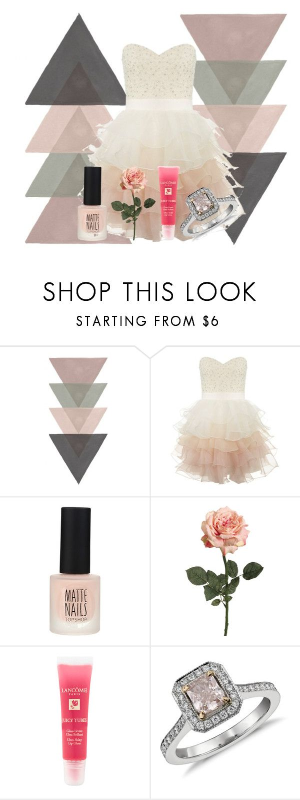 """HBD Cariba Heine! (AKA Rikki Chadwick)"" by miau-892 ❤ liked on Polyvore featuring Lipsy, Topshop, Lancôme, Blue Nile, h2o and justaddwater"