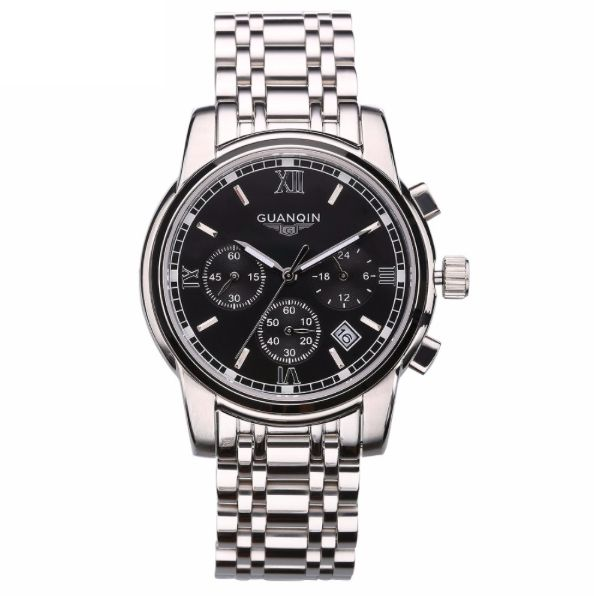 SLICK NATION The Business Executive Full Steel Chronowatch (Silver)