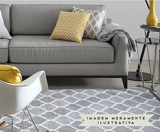 Tapete Granada Pingle Cinza - 150X200cm                                                                                                                                                                                 Mais