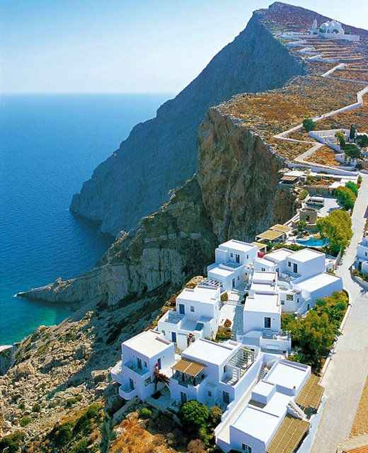 Cliffs in Greece. TopShelfClothes.com #travel