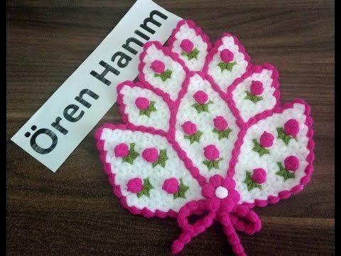 çiçek papatya lif yapımı - YouTube