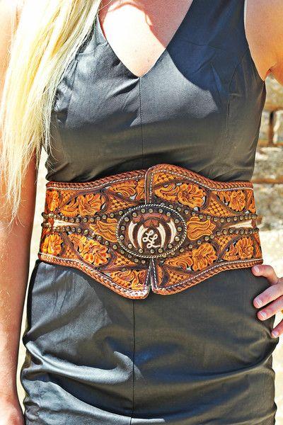 Miranda Lambert Belt Custom Hand Tooled Leather