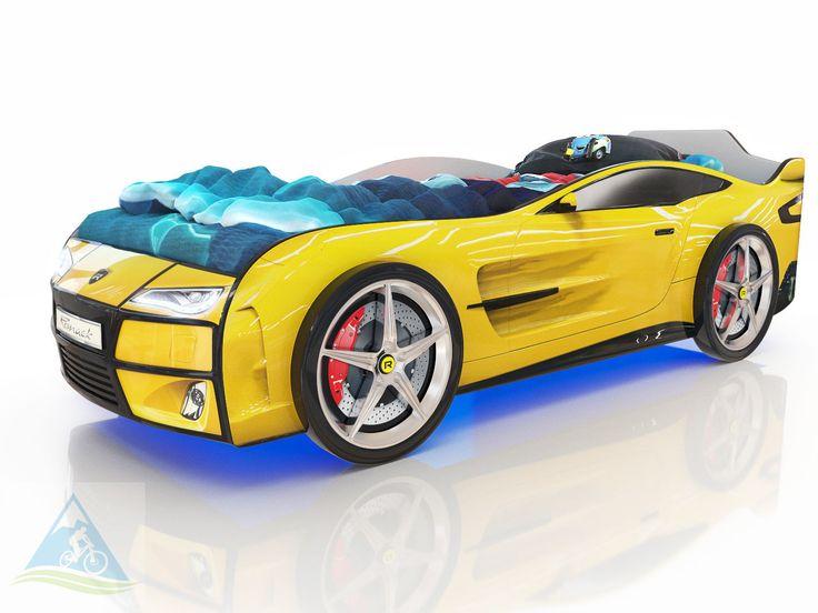 Кровать-машина Romack Kiddy желтая