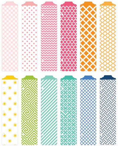 American Crafts - Becky Higgins - Project Life - Strawberry Collection - Designer Dividers