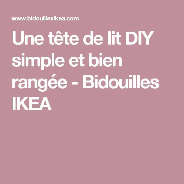 Les 25 meilleures id es de la cat gorie lit simple ikea - Construire une tete de lit avec rangement ...